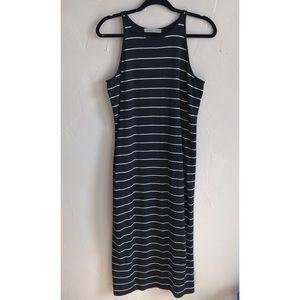 Athleta Striped Maxi Dress Size large H12